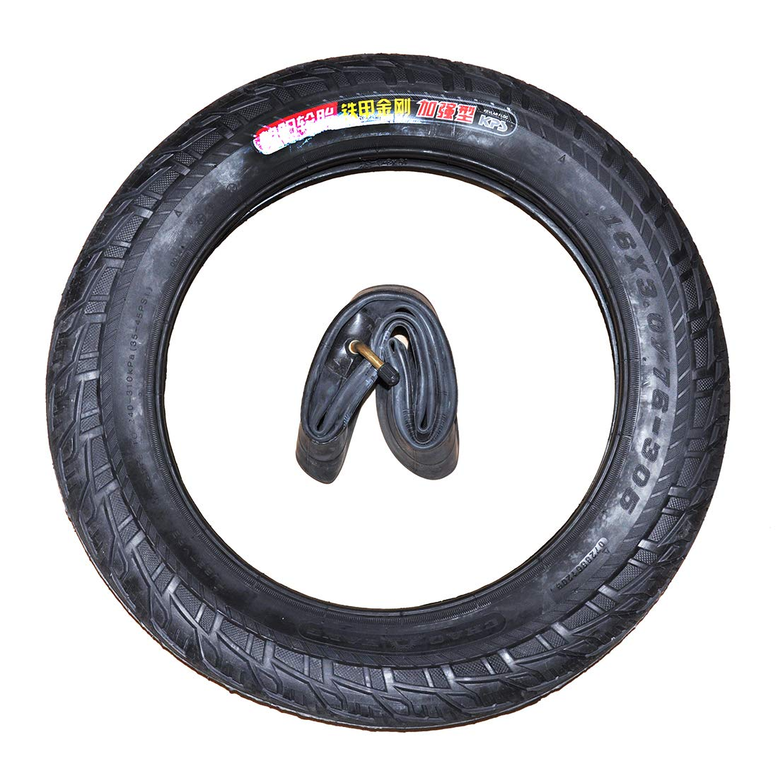 16x3.0 Electric Bicycle Spare Parts Inner Tube With Vent Valve Stem Butyl Rubber
